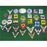 Twenty Nine assorted car and Veteran Motorists Club badges