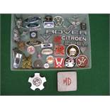 Quantity of vehicle manufacturers logos, badges etc to include: Rover, Ford, Vauxhall,