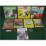 Motorcycling - four badges for Wimbledon & District MCC, Leamington Victory MCC,