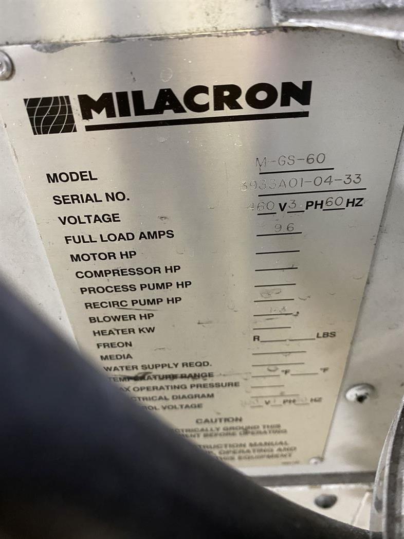 Cincinnati Milacron M-GS-60 Hopper Dryer System, s/n 3933A01-04-33, w/ Vacuum Loader - Image 4 of 6