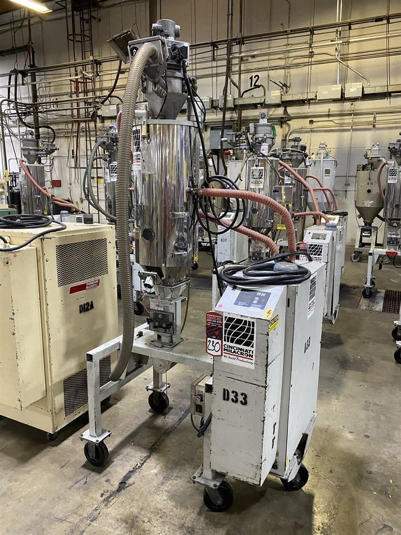 Cincinnati Milacron M-GS-60 Hopper Dryer System, s/n 3933A01-04-33, w/ Vacuum Loader - Image 2 of 6