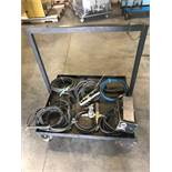 Rolling Welding Cart with Miller Model RFCS-23 Foot Pedal