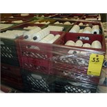 LOT OF FLAT YARN ROLLS (crated & palletized)