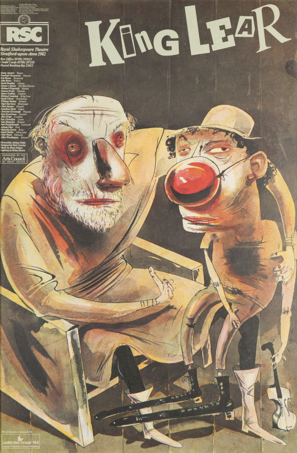 Lot 47 - COLLECTION OF FOUR THEATRE POSTERS TO INCLUDE RSC King Lear 1982; Arroyo Klasen Velickovic 1982;