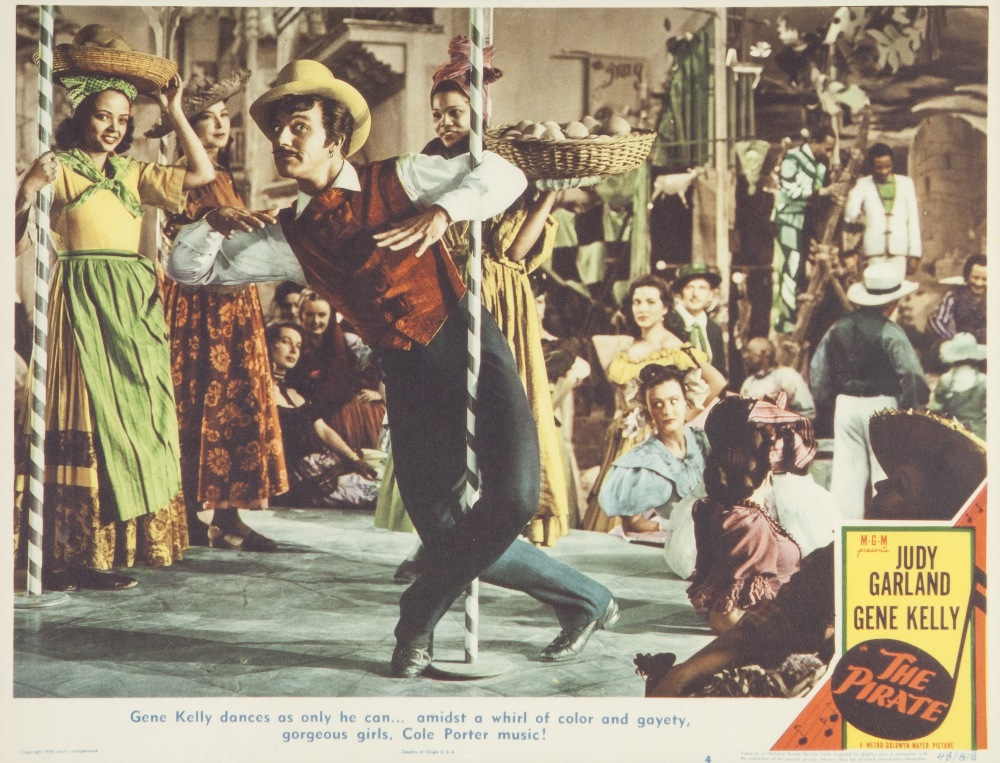 "Lot 43 - THE PIRATE M.G.M. 1948 lobby card set, eight, 10 1/2"" x 13 1/2"", featuring Judy Garland and Gene"
