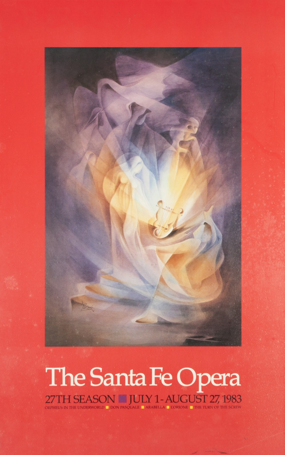 Lot 46 - A COLLECTION OF FINE SANTA FE MUSIC OPERA AND THEATRE POSTERS to include The Santa Fe Festival