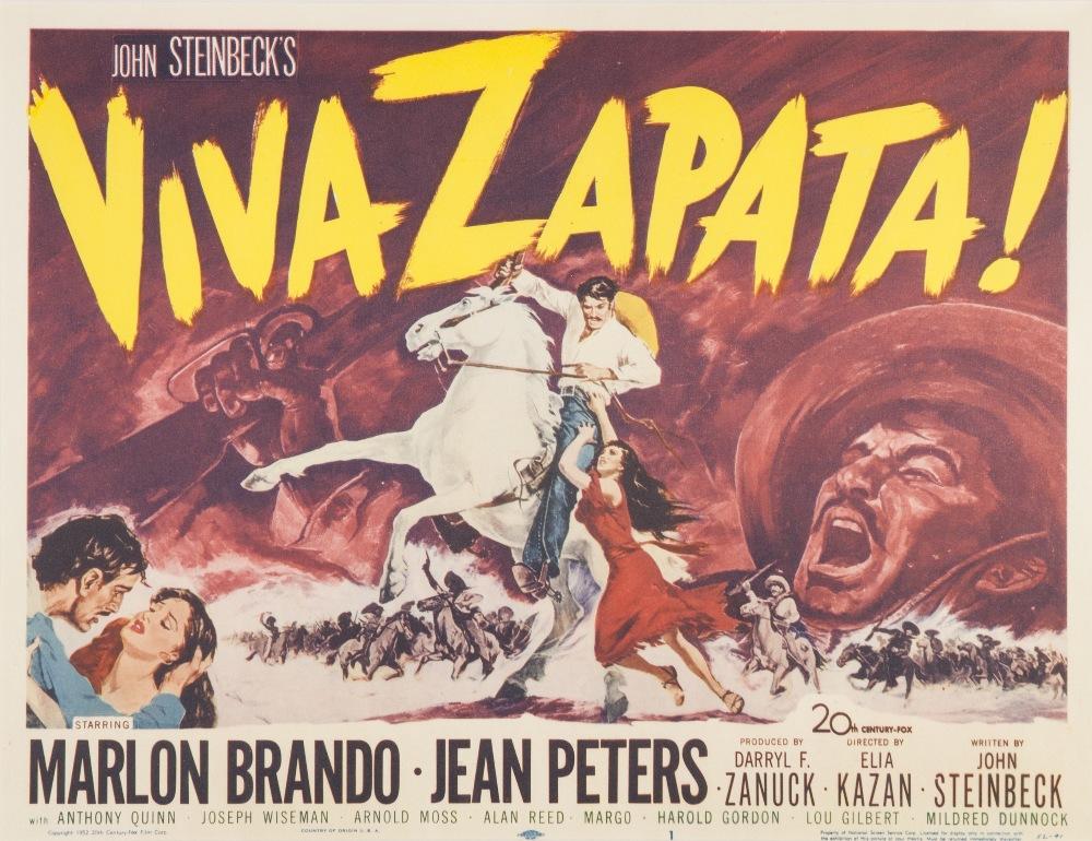 "Lot 42 - VIVA ZAPATA 20th CENTURY FOX 1952, lobby card set of eight, 10 1/2"" x 13 3/4"", featuring Marlon"