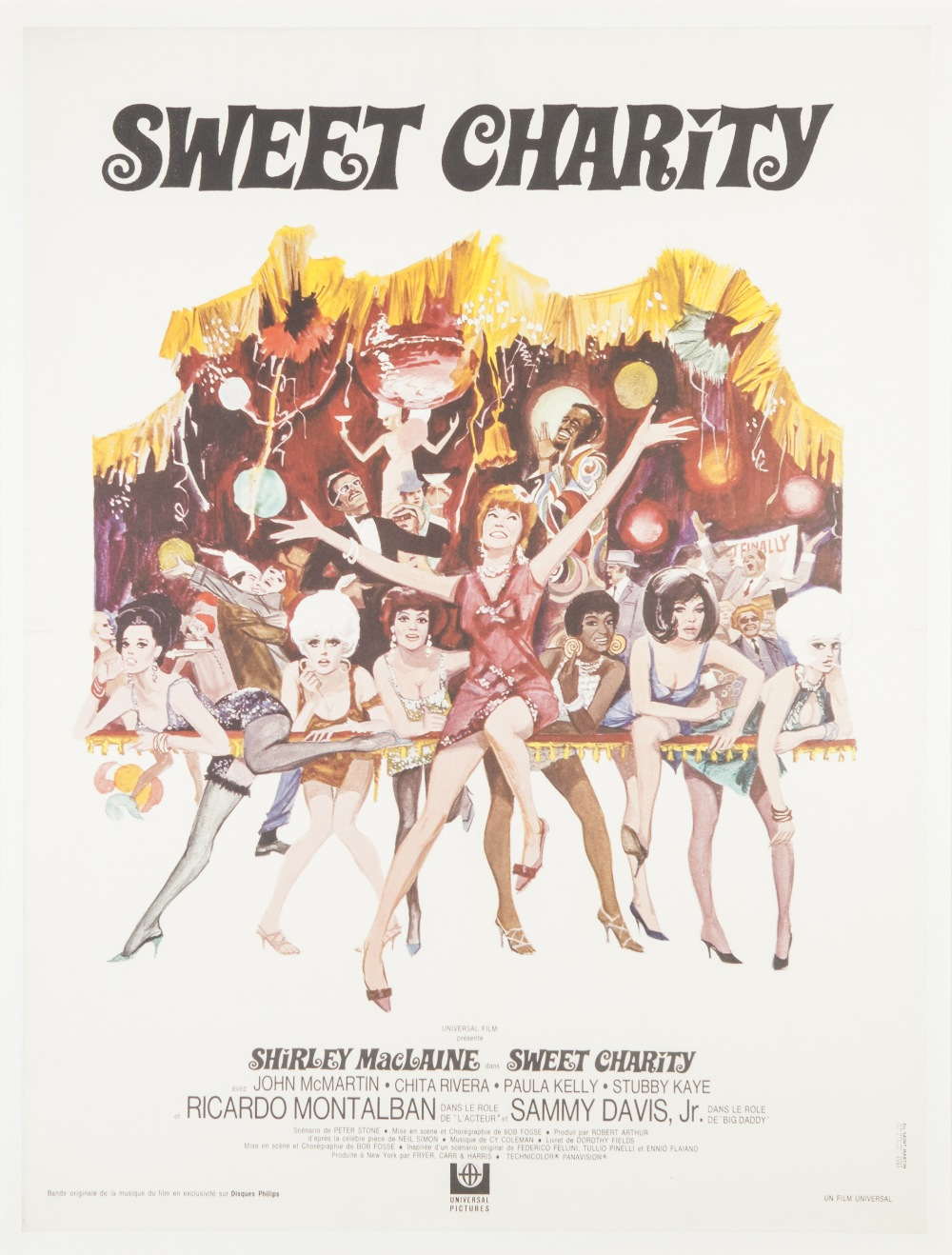 "Lot 17 - SWEET CHARITY, UNIVERSAL PICTURES, French poster, 31 1/2"" x 23 3/4"", featuring Shirley MacLaine,"