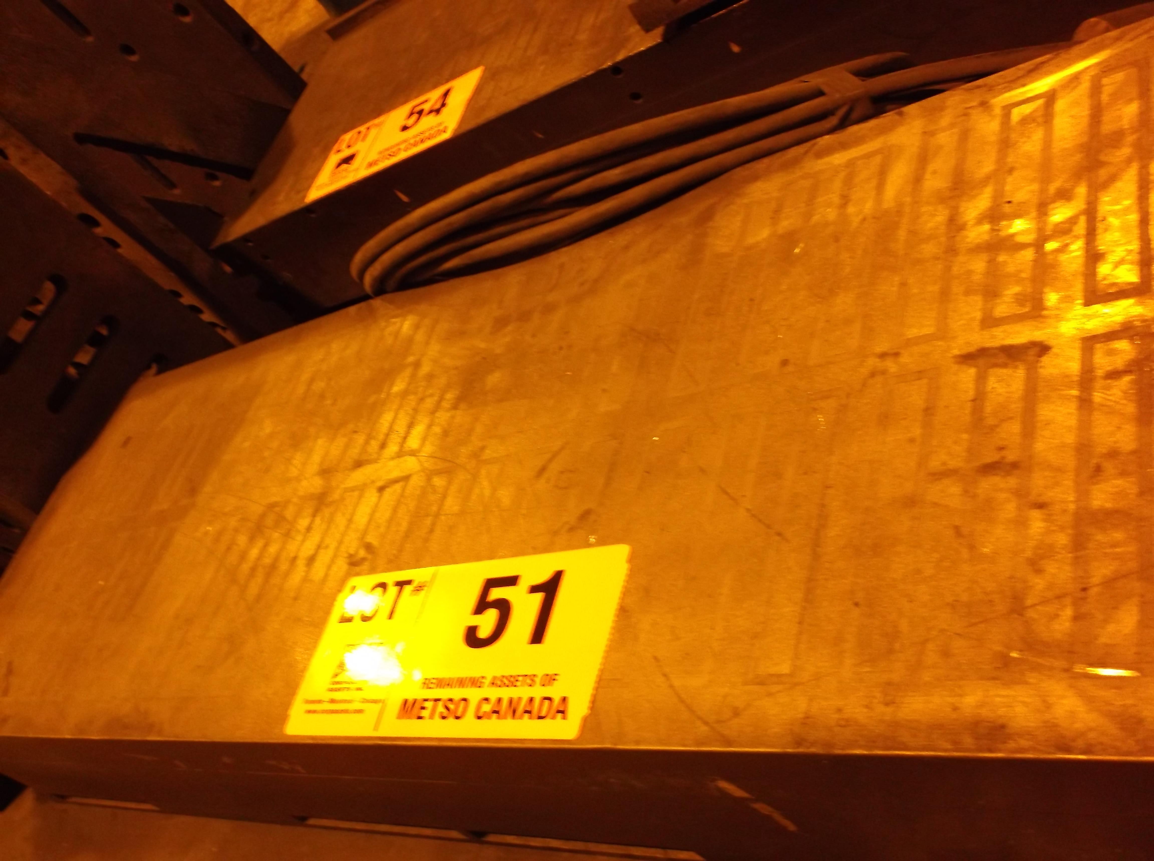 Lot 51 - 36''  X   12''     MAGNETIC CHUCK