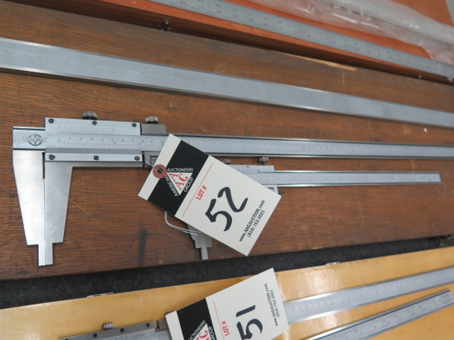 """Lot 52 - Kanon 24"""" and 12"""" Vernier Calipers"""