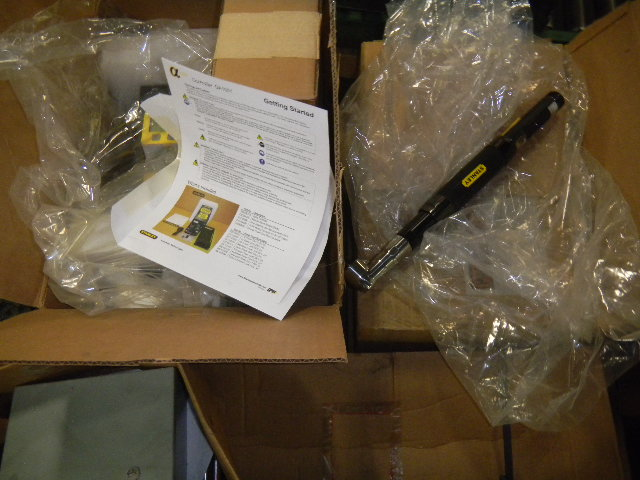 Lot 38 - Stanley Alpha Controllers - Torque Wrenches - Scanners - Swing Arm Mounts - (1) Money for All