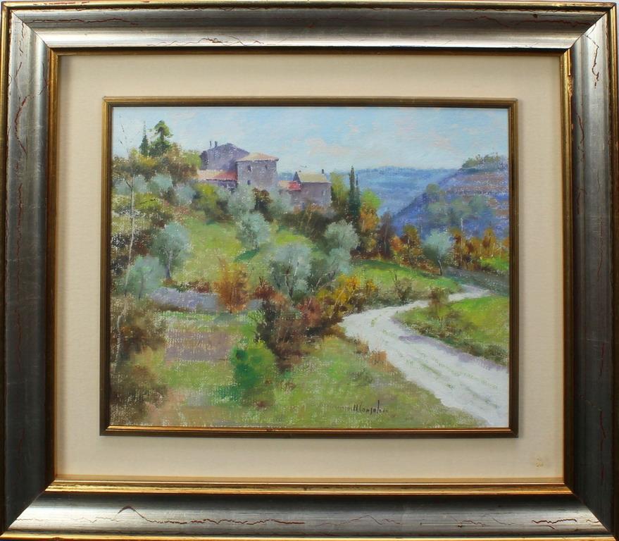 Lotto 15 - La valle, Consolaro, olio, cm. 50x40