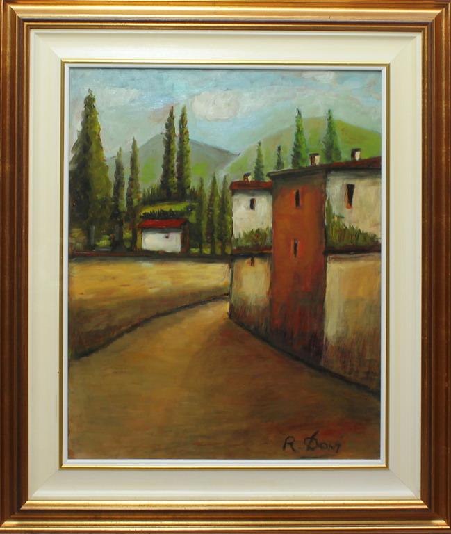 Lotto 20 - Paesaggio verso il Garda, Davi, olio, cm. 40x50