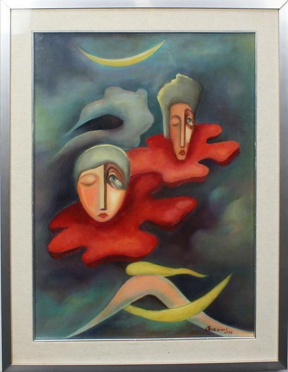 Lotto 10 - Sogno, Bozzini, olio, cm. 50x70