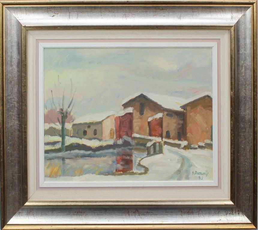 Lotto 24 - Paesaggio a Castellaro, Donati, olio, cm. 45x35