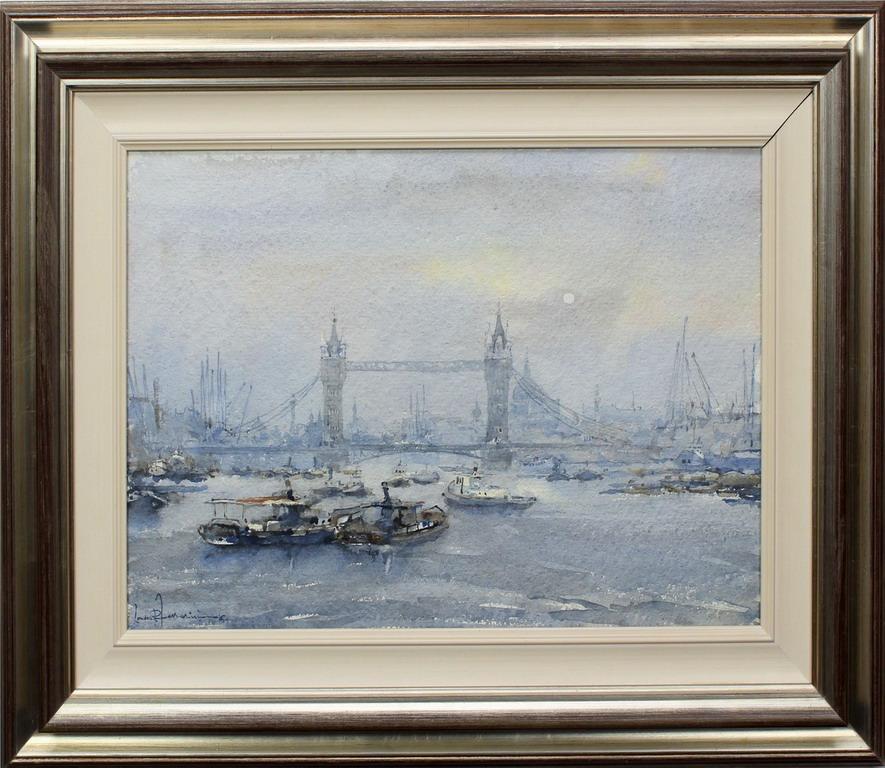 Lotto 35 - Londra, Ferrarini, acquerello, cm. 55x38