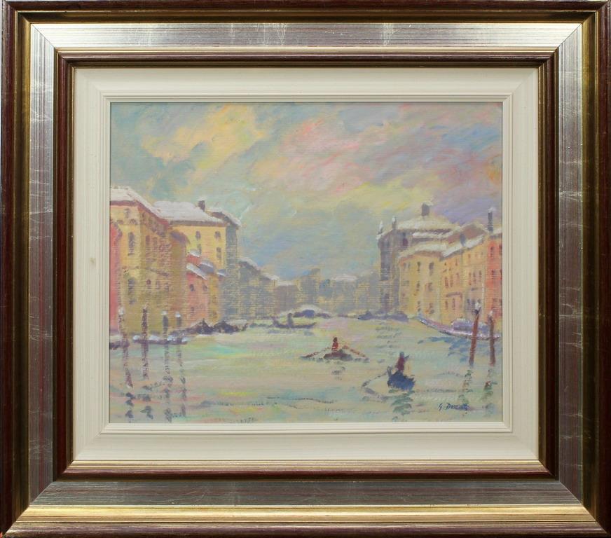 Lotto 23 - Venezia, Canal Grande, Donati, olio, cm. 50x40