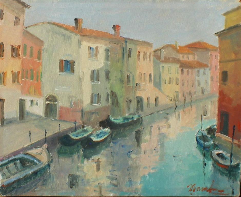 Chioggia, Maccabruni 1991, olio, cm. 30x25