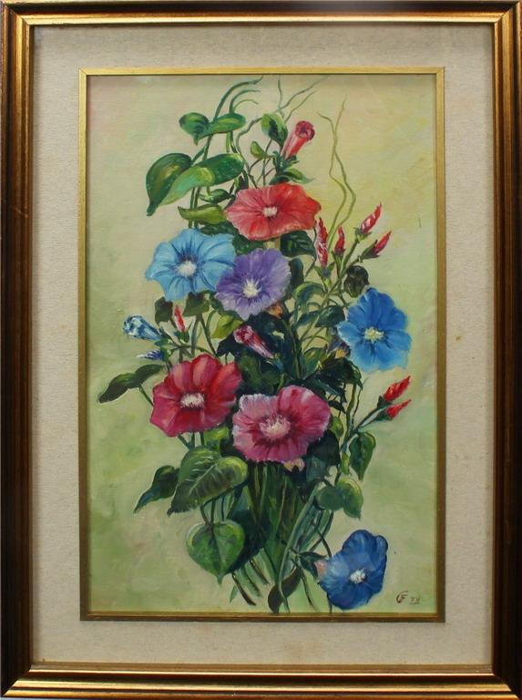 Lotto 3 - Fiori, G. 79. olio, cm. 30x50