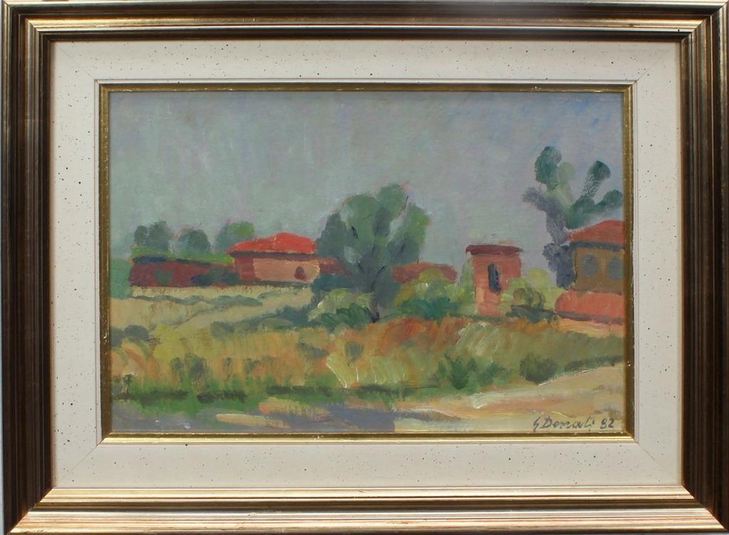Lotto 27 - Paesaggio di campagna, Donati, olio, cm. 34x24