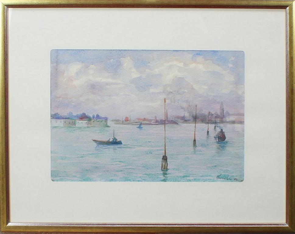 Lot 51 - Laguna di Venezia, Lucchini, acquerello, cm. 36x25