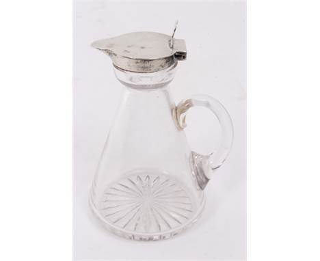 Antiques Road Trip lot: Early 20th century silver lidded glass whisky noggin, London 1923, 10cm high