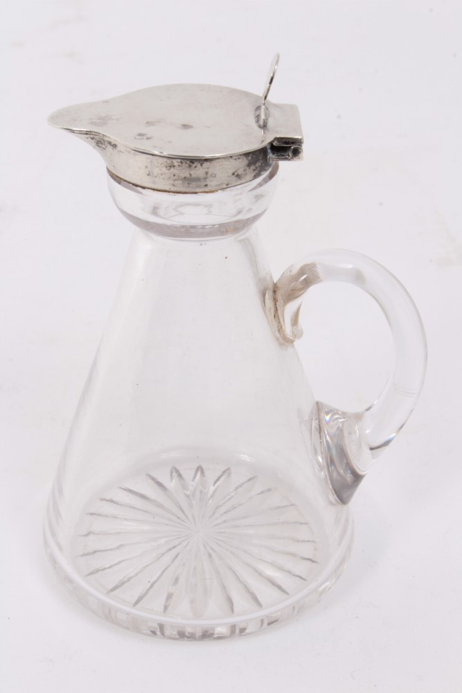 Antiques Road Trip lot: Early 20th century silver lidded glass whisky noggin