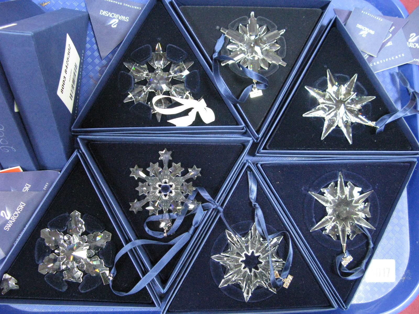 Swarovski Crystal Annual Christmas Ornaments, 2002, 2003 ...