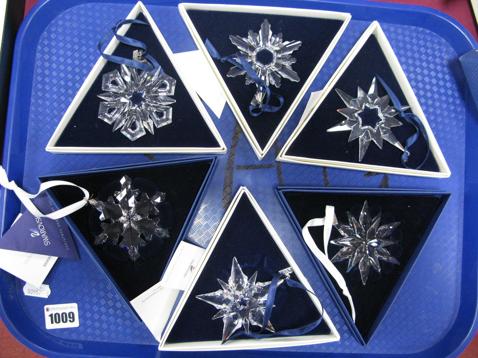 Swarovski Crystal Annual Christmas Ornaments, 1997, 1998 ...
