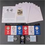 Silbermünzen Olympiade 1984 Los Angeles1x 250 Dinare, 925er Silber, 17 Gramm, PP in Münzkapsel.1x