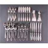 Silbernes Essbesteck für 6 Personen, Bruckmann, 800er Silber42-teilig, insg. 1700 g ohne Messer