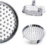 (GC1009) 6 Inch Traditional Fixed Rainfall Shower Head Round Stainless Steel Swivel Joint. Craf...