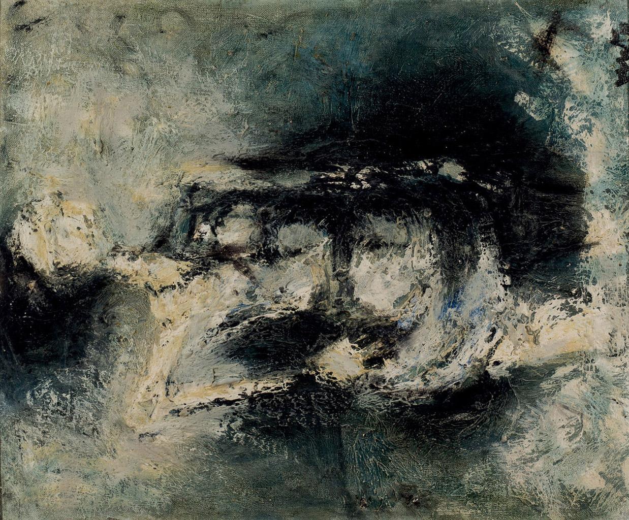"""Lot 8 - VENTO RUIZ, JOSÉ (1925 - 2005). """"Figura"""". Óleo sobre lienzo. 46 x 38 cm. Firmado en el ángulo"""