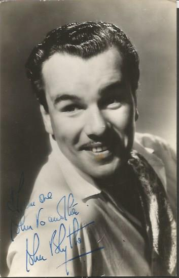 Lot 1212 - John Blythe signed vintage photo. He was an actor and writer, known for Bon Voyage (1944), This