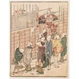 KATSUSHIKA HOKUSAI 葛飾北斎 (1760 - 1849) Original Woodblock print, Japan, The Nagasaki House in Edo