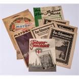 Konvolut ZeitschriftenADAC-Motorwelt, 1930; dazu Fahrrad- und Motorradzeitung, 1929 etc.