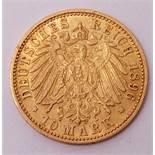 10 Mark, Deutsches Reich 1896, Anhalt, Friedrich I. (1871 - 1904)Prägestätte A. Leichte