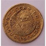 1/2 Escudo, Costa Rica 1846Berieben. Gew. ca. 0,3g.