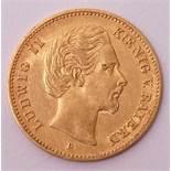 5 Mark, Deutsches Reich 1878, Ludwig II. von BayernMünzstätte D. Guter Zustand.