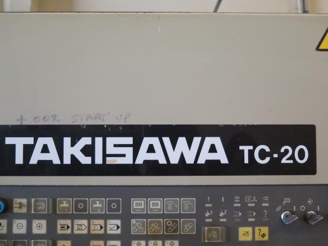 Takisawa TC-30 CNC Turning Center s/n TLNM5560 w/ Takisawa-Fanuc Controls, 12-Station, SOLD AS IS - Image 12 of 13
