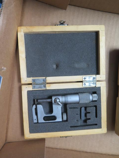 """Mitutoyo 0-1"""" Disc Mic and (2) Mitutoyo and Import 0-1"""" Anvil Mics (SOLD AS-IS - NO WARRANTY) - Image 3 of 3"""