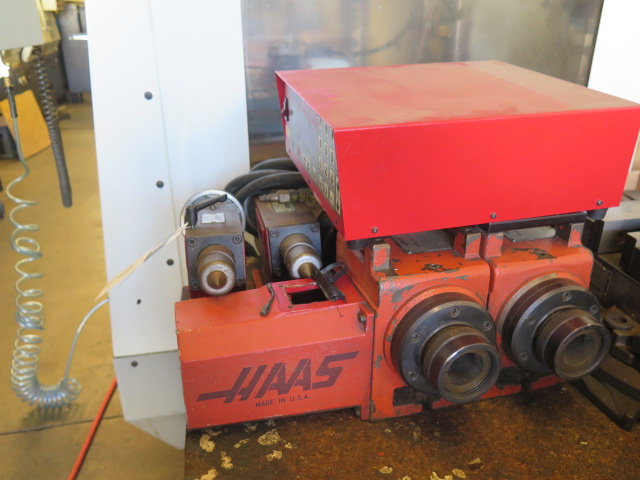 Haas HA5C2 2-Head 4th Axis 5C Rotary Index w/ Haas Servo Controller & (2) Mill Centers (SOLD AS IS)