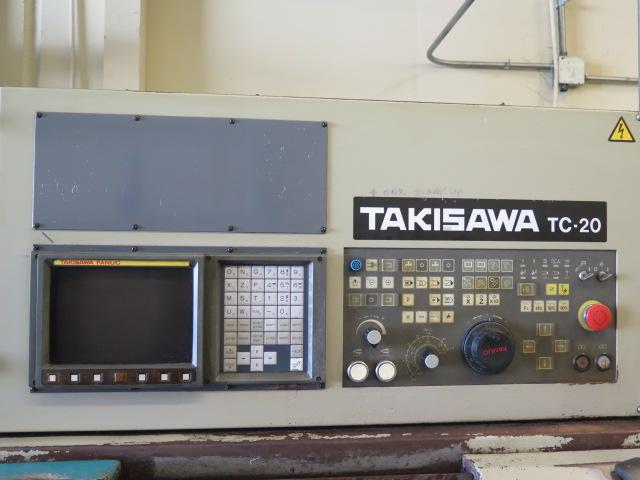 Takisawa TC-30 CNC Turning Center s/n TLNM5560 w/ Takisawa-Fanuc Controls, 12-Station, SOLD AS IS - Image 9 of 13