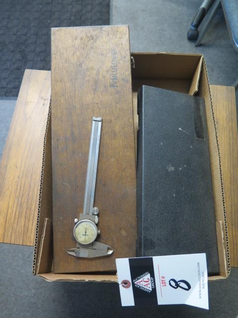 """Mitutoyo and Import 12"""", 8"""" and 6"""" Dial Calipers (5) (SOLD AS-IS - NO WARRANTY)"""
