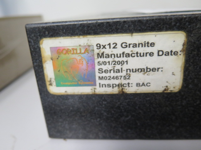 """8"""" x 1`2"""" x 3"""" Granite Surface Plate (SOLD AS-IS - NO WARRANTY) - Image 3 of 3"""