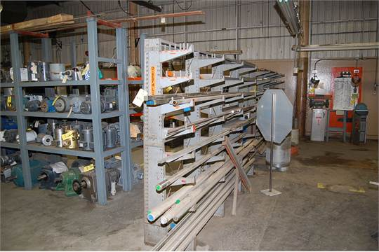 Lyon Double Side Cantilever Rack, 80 in. Height x 10 ft. Length