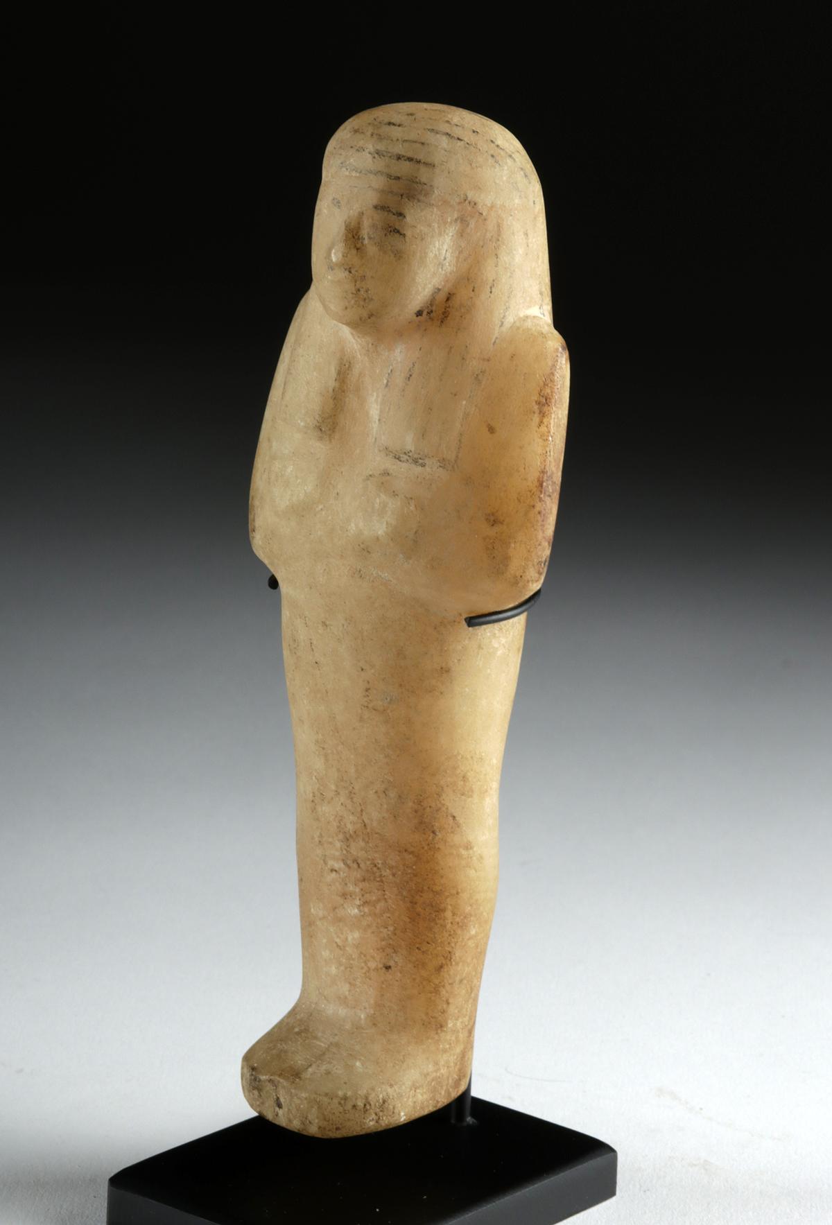 Lot 5 - Egyptian Third Intermediate Alabaster Ushabti