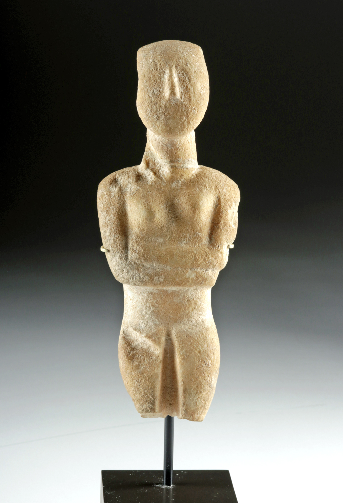 Lot 20 - Cycladic Marble Female Figure, Early Spedos Variety