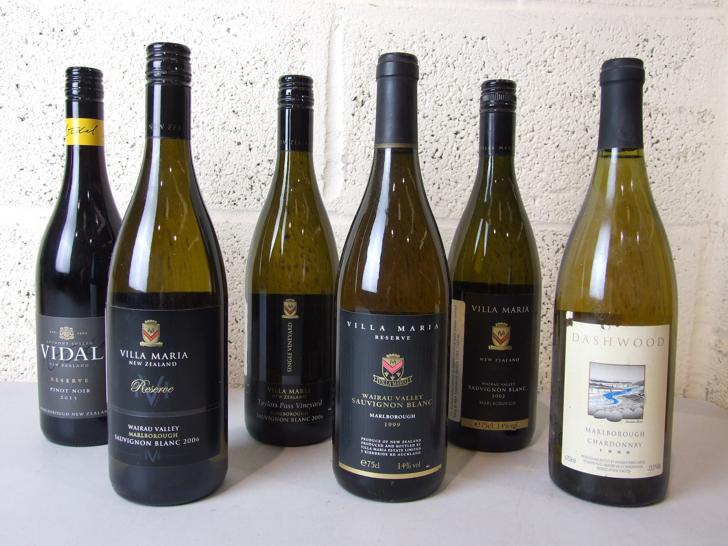 Lot 38 - New Zealand, Villa Maria, 1999, one bottle, 2002, one bottle, and 2006, two bottles, and two others,