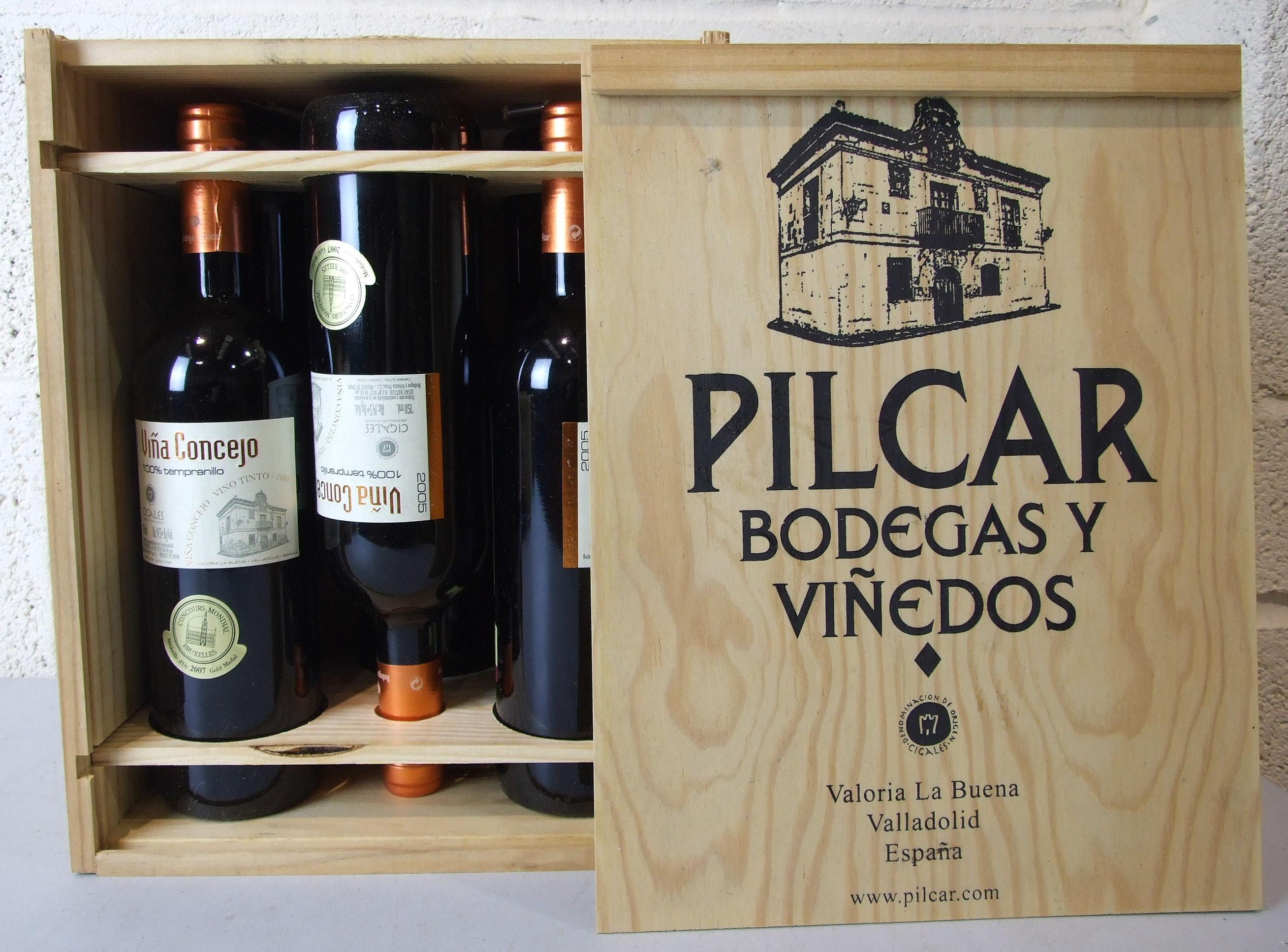 Lot 25 - Spain, Cigales Bodegas Pilcar 2005, six bottles, OWC, (6).